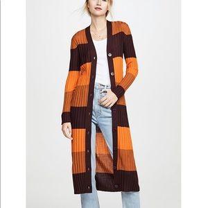 Equipment wool duster cardigan